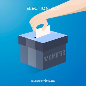Voting and election concept with box