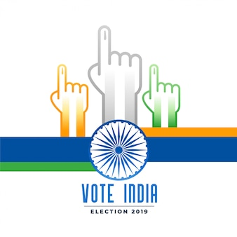 Voting and polling indian election campain