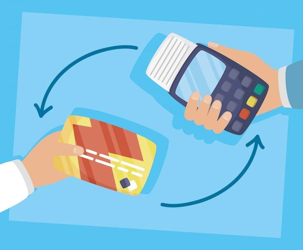 Ваучер и кредитная карта с технологией онлайн покупок