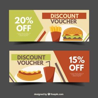 Voucher for fast food restaurant