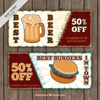 Voucher for food and drink