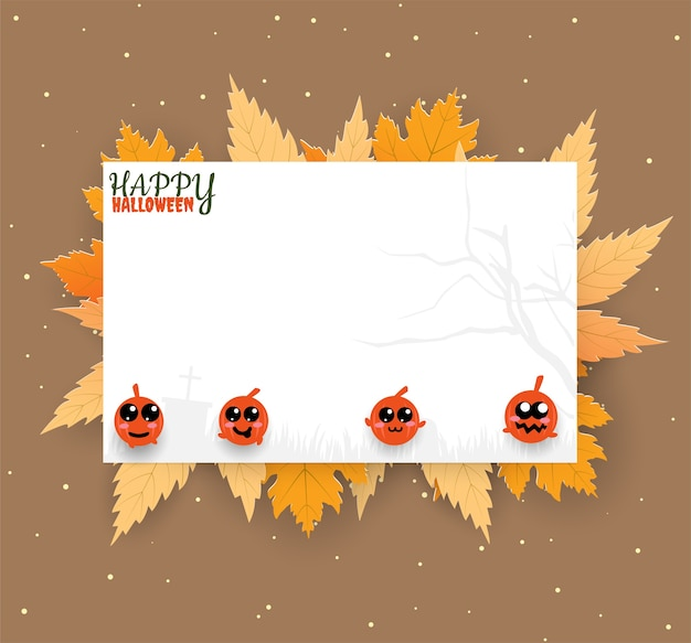 Voucher halloween cute