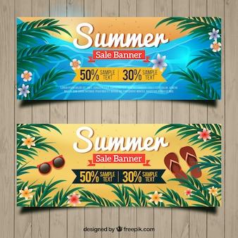 Stile realistico voucher per l'estate