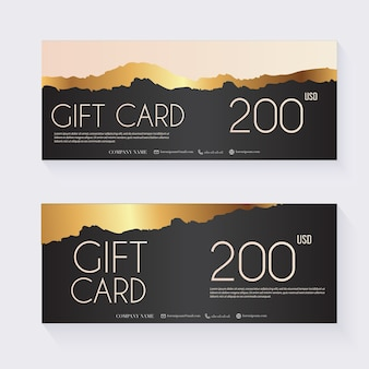 Voucher template with color gift box,certificate.