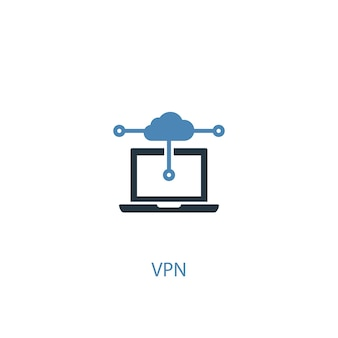 Vpn concept 2 colored icon. simple blue element illustration. vpn concept symbol design. can be used for web and mobile ui/ux