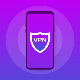 Vpn-подключение. концепция безопасного подключения к виртуальной частной сети. изометрические в ультрафиолетовых тонах.