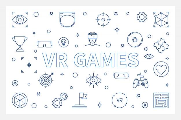 Vr games наброски иконки