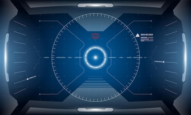 Vrhudデジタル未来インターフェースデザインscifiバーチャルリアリティシミュレータービューヘッドアップディスプレイ