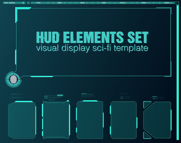 Vr reality in modern style. virtual reality. modern technology. futuristic  hud interface screen . hud ui gui futuristic user interface screen elements set. high tech screen for video game