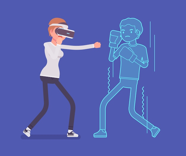 Vr woman boxing