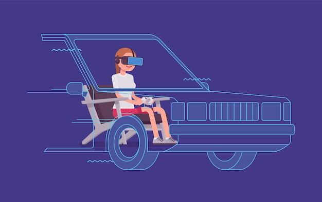 Vr女性運転免許試験