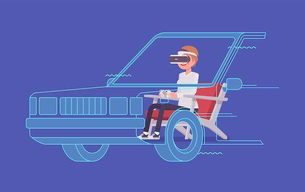 Vr женщина экзамен по вождению