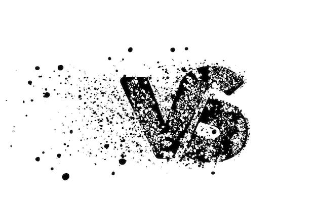 Vs about company linked letter logo