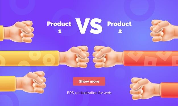 Vs challenge столкновение двух кулаков с копировальной пастой vs баннер