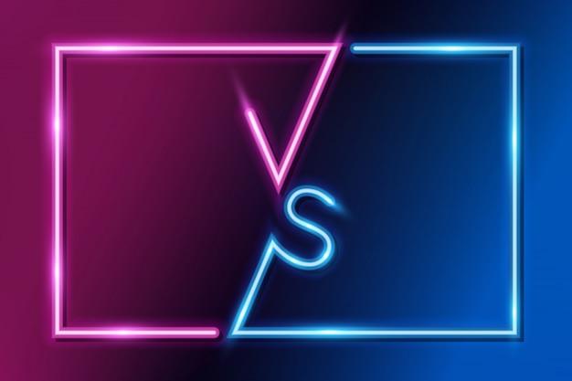 Vs letters versus banner competitive