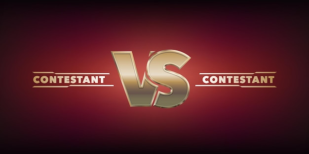 Vs realistic vector icon, logo. versus sign and template text for contestants for sports battle or competition, or politics debates announcement