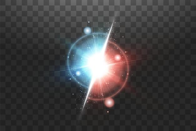 Vs 기호 벡터 대 빛나는 빛으로 배경