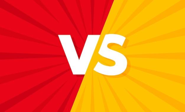 Vs. versus letter illustration. battle vs match, game