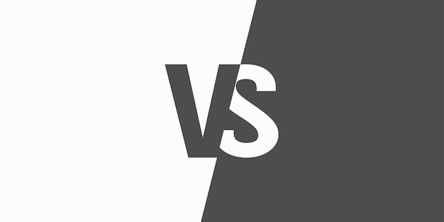 Vs versus letters isolated