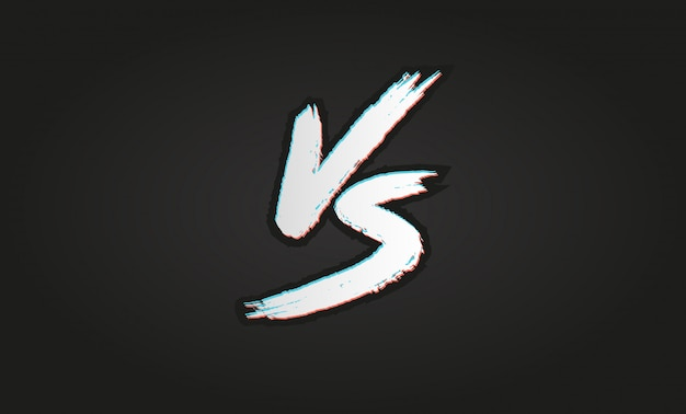 Vs。対文字ロゴ。バトルvsマッチ、ゲーム