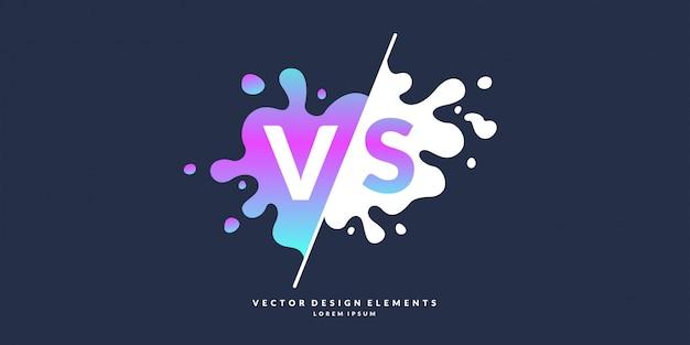 対決vsの明るいポスターシンボルは、同じロゴにすることができます。図。