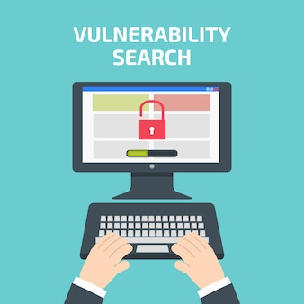 Vulnerability search decktop.