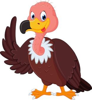 Мультфильм vulture Premium векторы