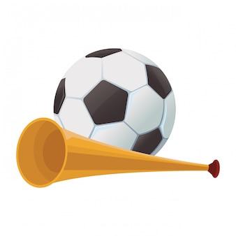 부 젤라 트럼펫과 축구 공