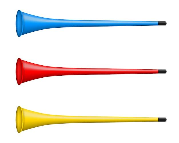 Vuvuzela trumpet, pipe, bugle for soccer, football