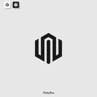 Шаблон логотипа с монограммой w и i