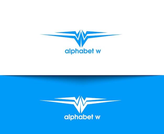 W векторный логотип компании и дизайн символа