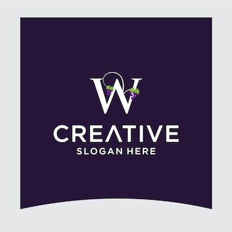 Wグレープロゴデザイン
