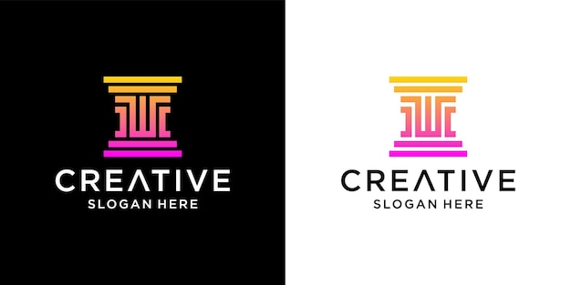 W law firm logo design