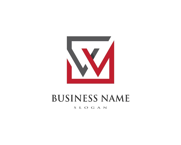 W letter logo business