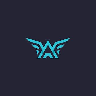 W a letter wings logo