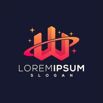 W planet logo
