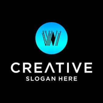 W tech logo design