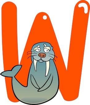 W for walrus