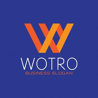 Оранжевый буква w логотип