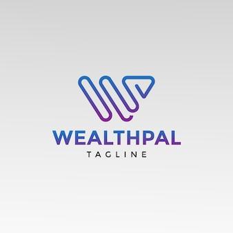 W письмо логотип