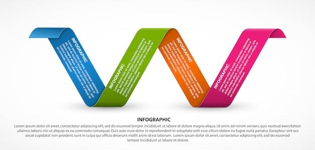 Инфографика шаблон с буквой w