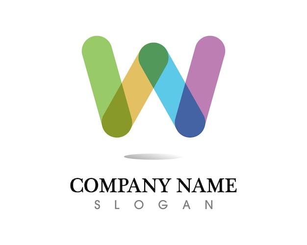 W буквенный и знаковый векторный дизайн