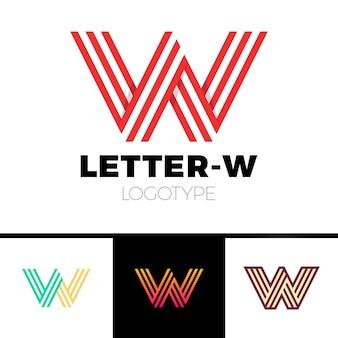 不可能な形の文字wロゴデザイン