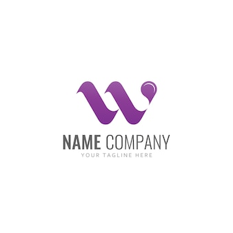 文字wのロゴベクトル