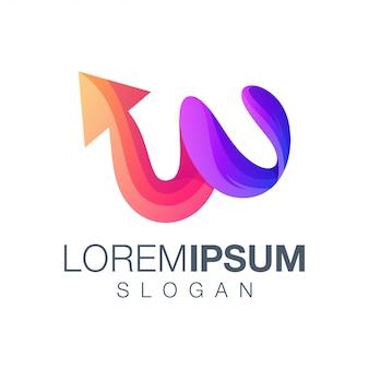 Буква w стрелка логотип