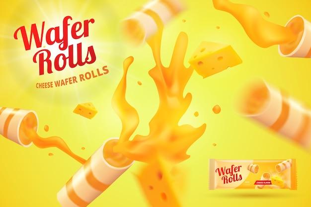 Annuncio realistico di rotoli di wafer