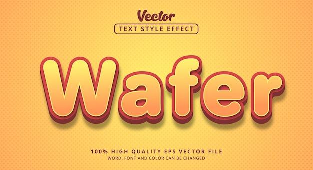 大胆なスタイルの柔らかい色のウェーハテキスト、編集可能なテキスト効果