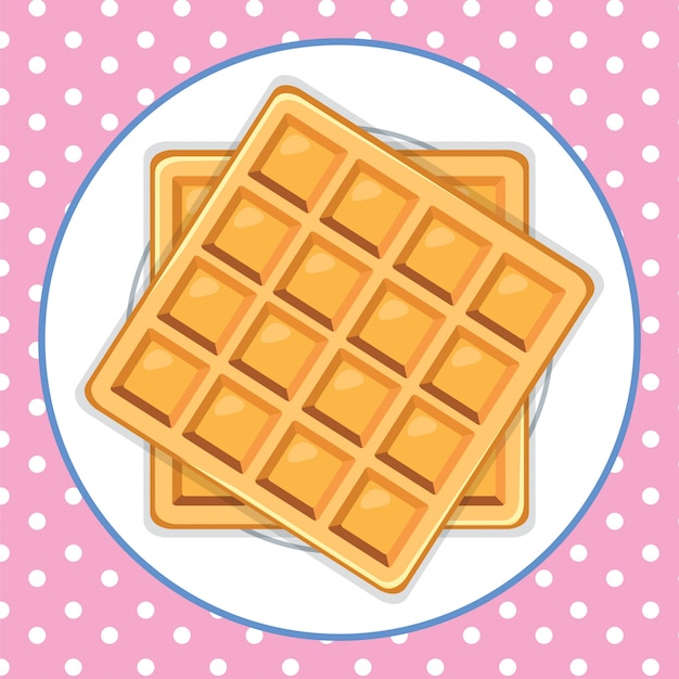 A waffle dish cute background