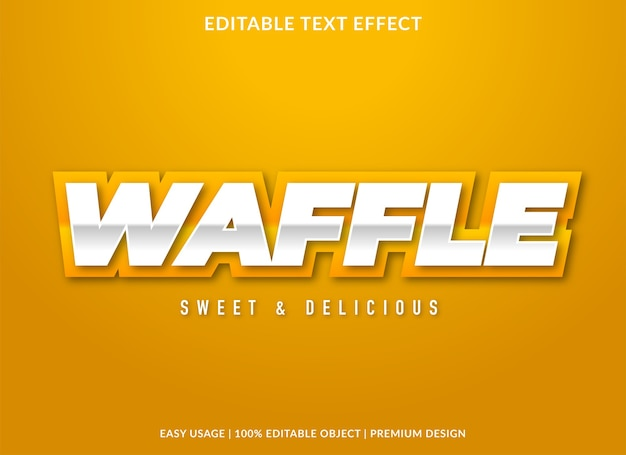 Waffle editable text effect template
