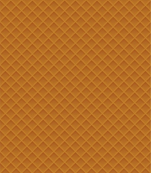 Waffle seamless pattern vector illustration